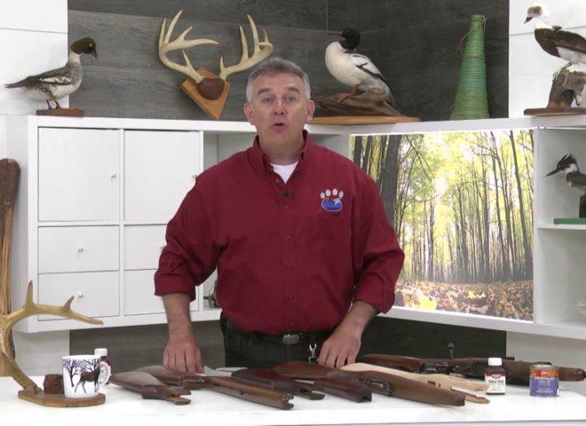 Réfection de la crosse d'une arme à feu