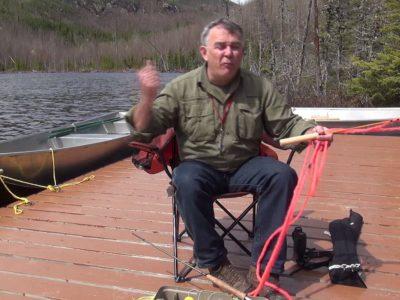 Préparatifs pour pêche à la mouche